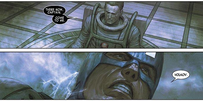 Extrait du comics Captain America la légende vivante