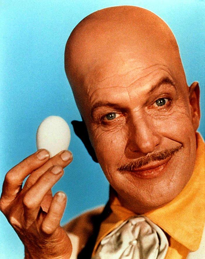 personnages de comics en forme d'oeuf Egghead Batman sixties
