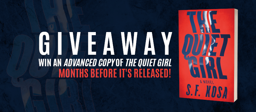 Social Media - Facebook Cover Photo - Giveaway - The Quiet Girl by S.F. Kosa