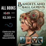 New Release! Check out this excerpt and giveaway from BANDITS AND BALL GOWNS by Christina Bauer!