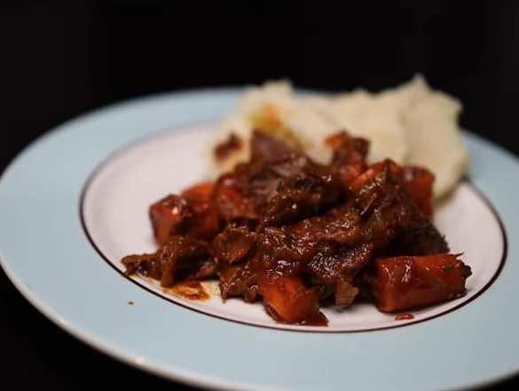 Pot Roast with Mashed Baked Potatoes