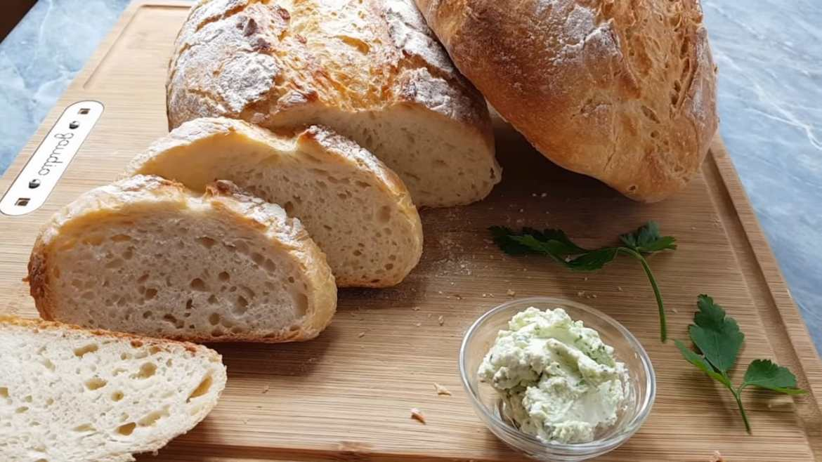 Quick bread without kneading