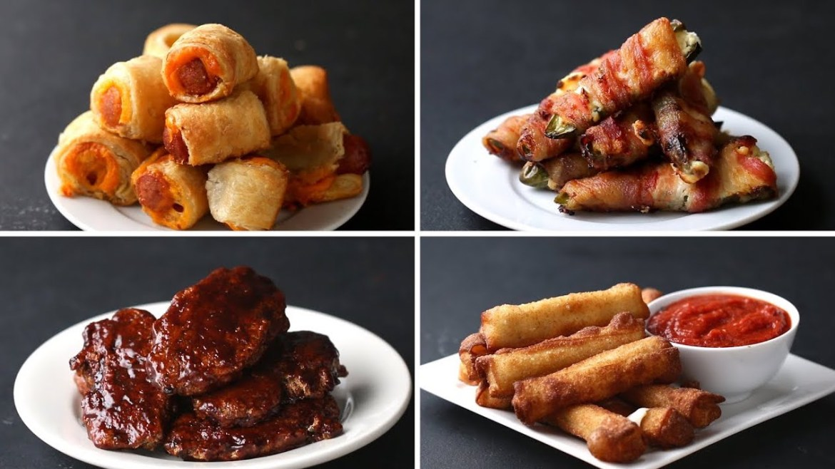 3-Ingredient appetizers (4 recipes)