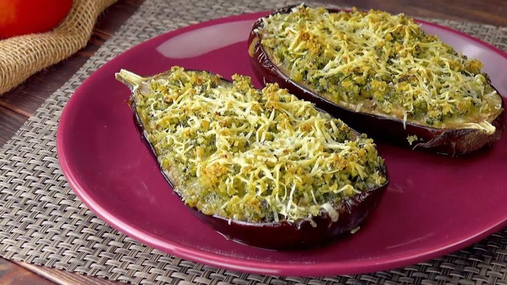 Ham and Cheese Stuffed Eggplant
