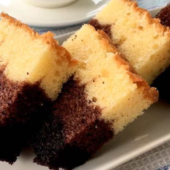 Shaded chocolate butter cake