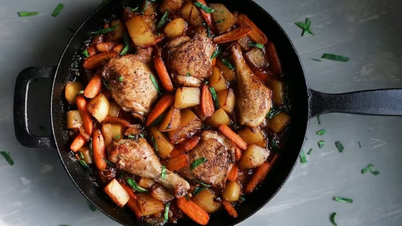 One - Pan Honey Garlic Chicken and Veggies Recipe