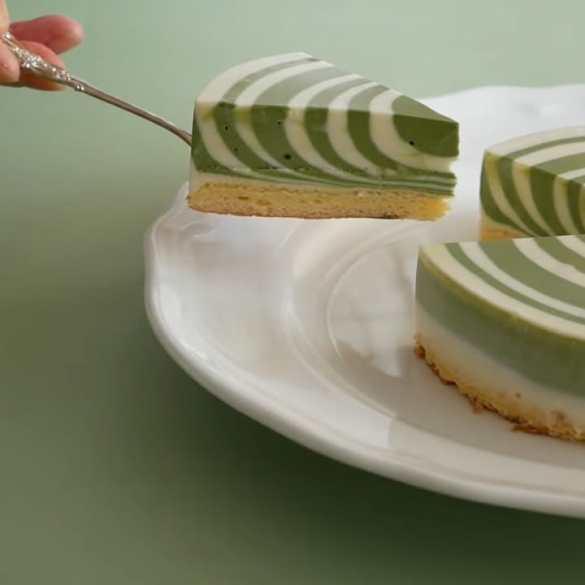 No Bake Zebra Cheesecake