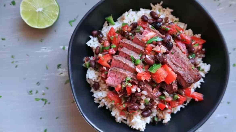DIY Steak & Rice Chipotle Bowl