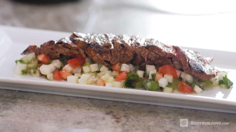 Flank Steak with Jicama Salsa
