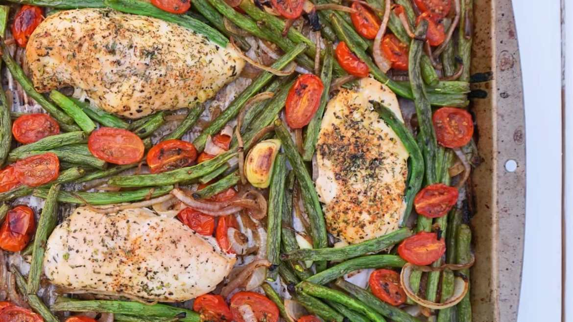 One-Pan Tuscan Chicken & Veggies