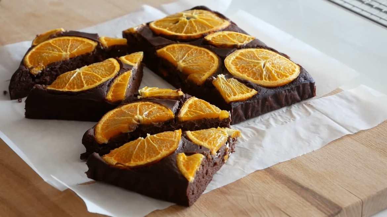 Mandarin orange Brownies