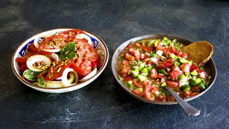 2 TOMATO SALADS