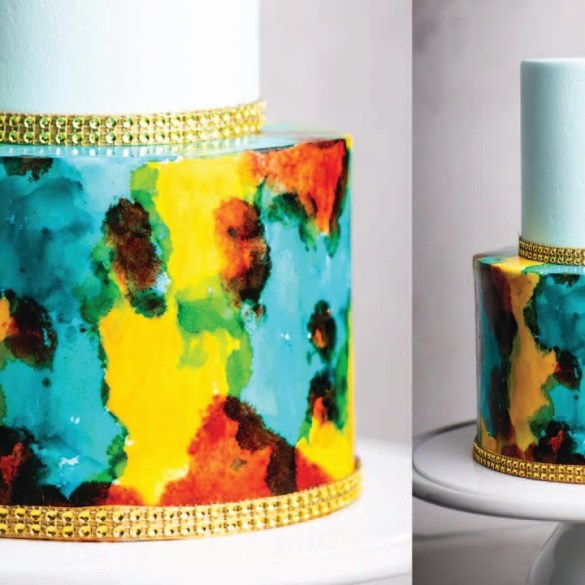 Fun and Easy Watercolor Style Cake