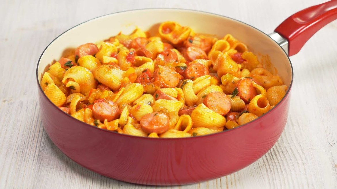 Tasty Dinner In 25 Minutes! One Pot HOT DOG PASTA by Always Yummy!