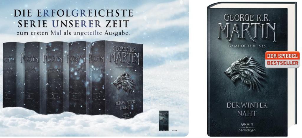 Das Lied von Eis und Feuer Neuauflage als Hardcover, erscheint am 14.03.2016 im Penhaligon Verlag, Screenshot aus der Verlagsvorschau