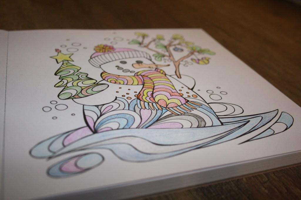 Zencolor moments Weihnachten - Beispielhaft ausgemaltes Motiv