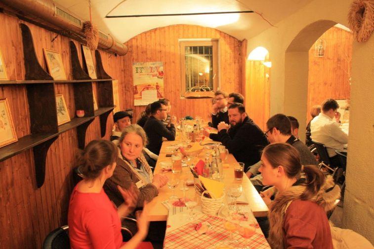 Entspannte Atmosphäre beim Klett-Cotta Bloggertreffen