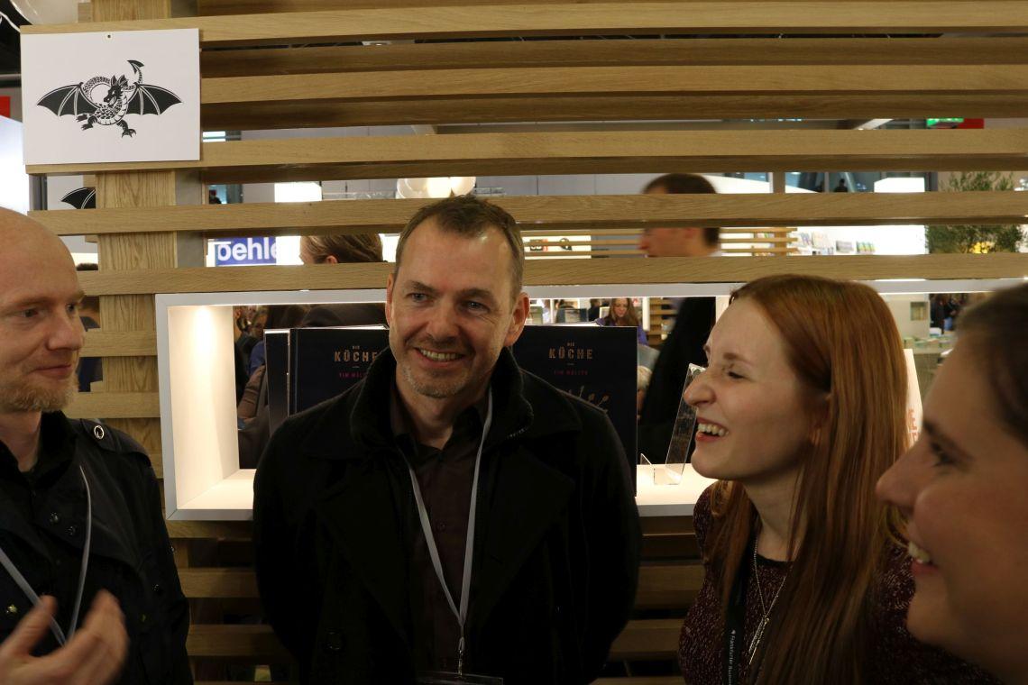 Tom Orgel und Saskia (Who is Kafka?) beim #BlogNTalk
