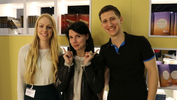 Anabelle (Stehlblüten), Karla Paul und ich beim #BlogNTalk