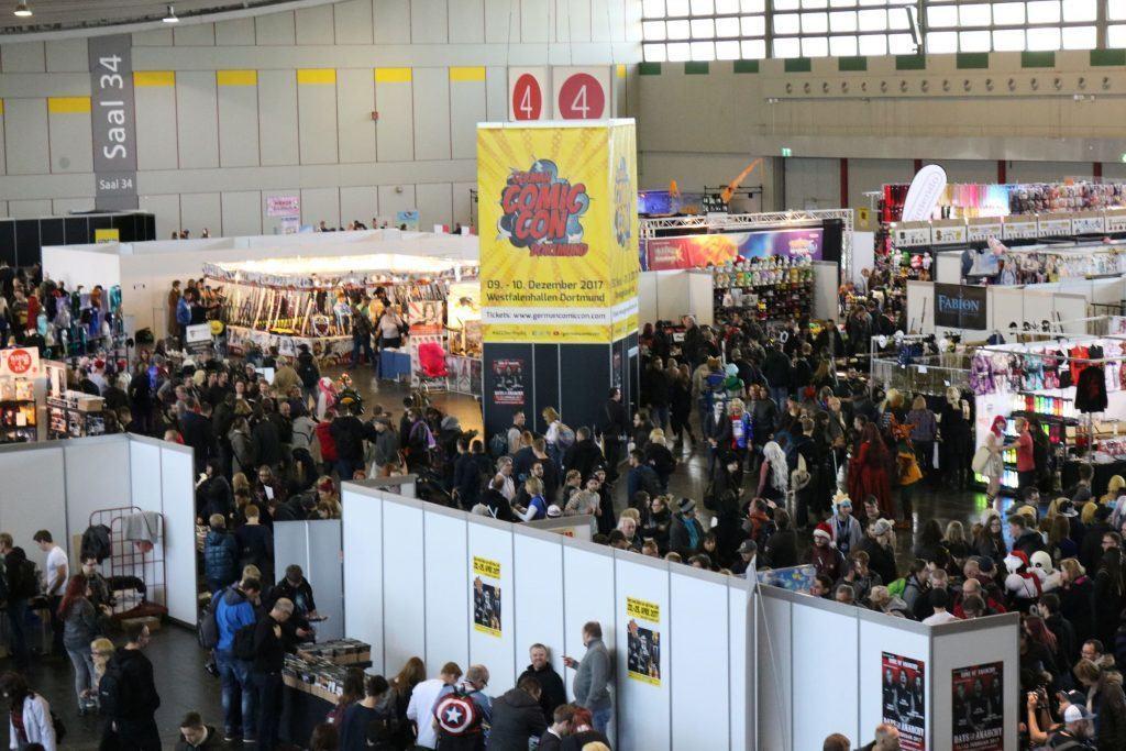 Blick auf die Manga- und Cosplayhalle