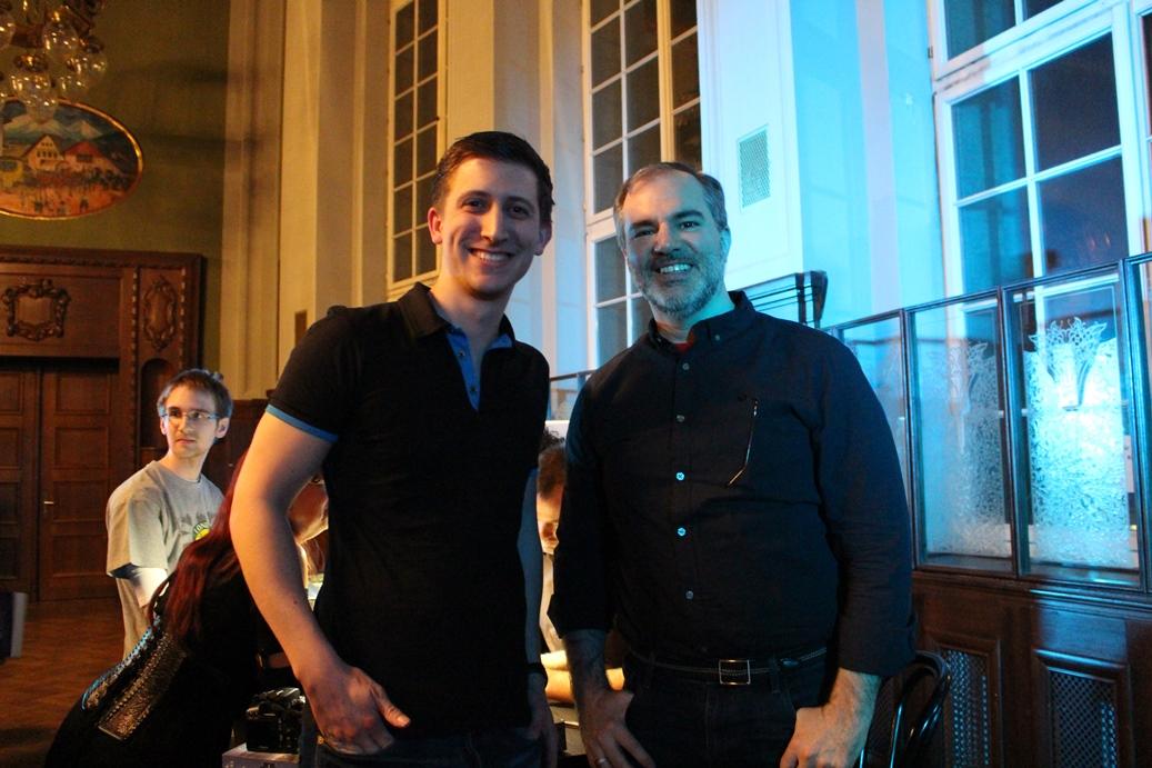 Peter V. Brett und ich auf der Henye Fantasy Nacht 2016