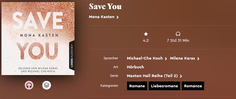 Save Me von Mona Kasten