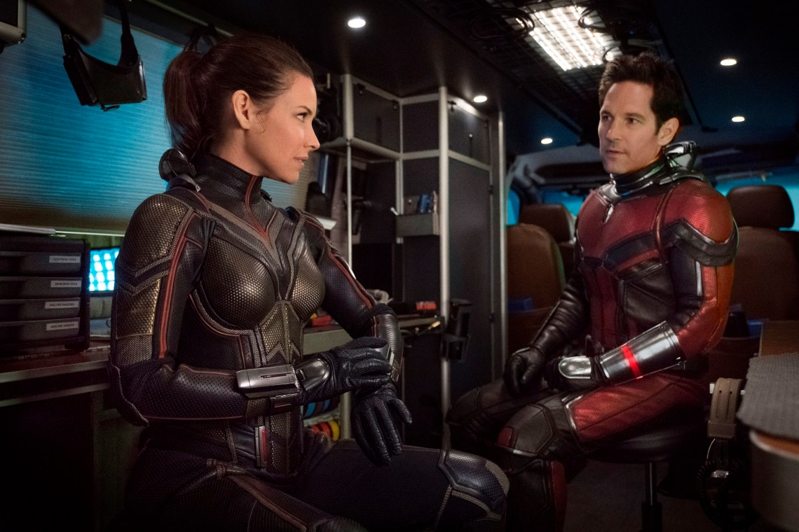 Marvel Studios ANT-MAN AND THE WASP L to R: The Wasp/Hope van Dyne (Evangeline Lilly) and Ant-Man/Scott Lang (Paul Rudd) Photo: Ben Rothstein ©Marvel Studios 2018