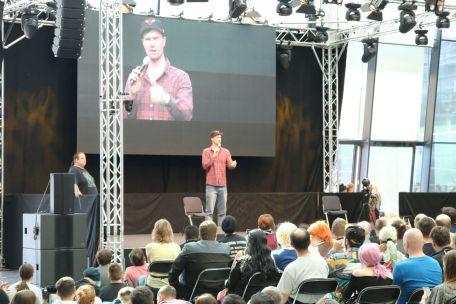 Chewbacca Darsteller Joonas Suotamo auf der Comic Con Germany 2018