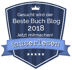 #auserlesen Buch Blog Award 2018 - Bewerbung blau
