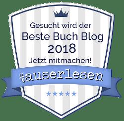 #auserlesen Buch Blog Award 2018 - Bewerbung weiß