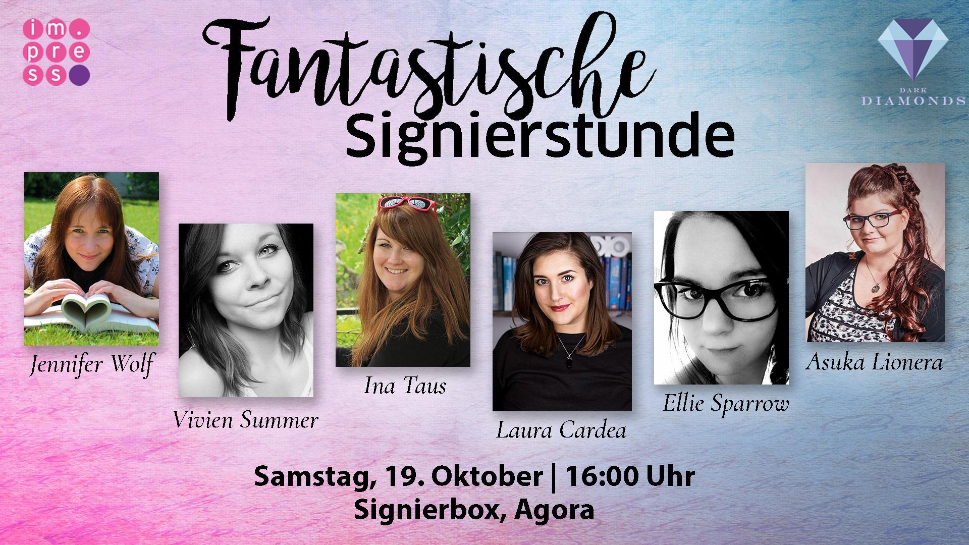 Fantastische Signierstunde von Impress und Dark Diamonds auf der Frankfurter Buchmesse 2019 (c) Carlsen Verlag