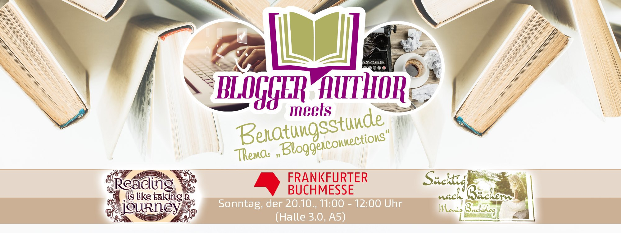 "Blogger meets Author: Beratungsstunde zum Thema ""Bloggerconnections"""