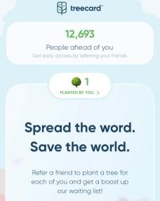 Treecard - Die Kreditkarte, die Bäume pflanzt