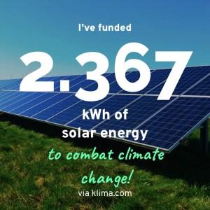 Klima App - CO2 Komensation durch Förderung von Solarenergie
