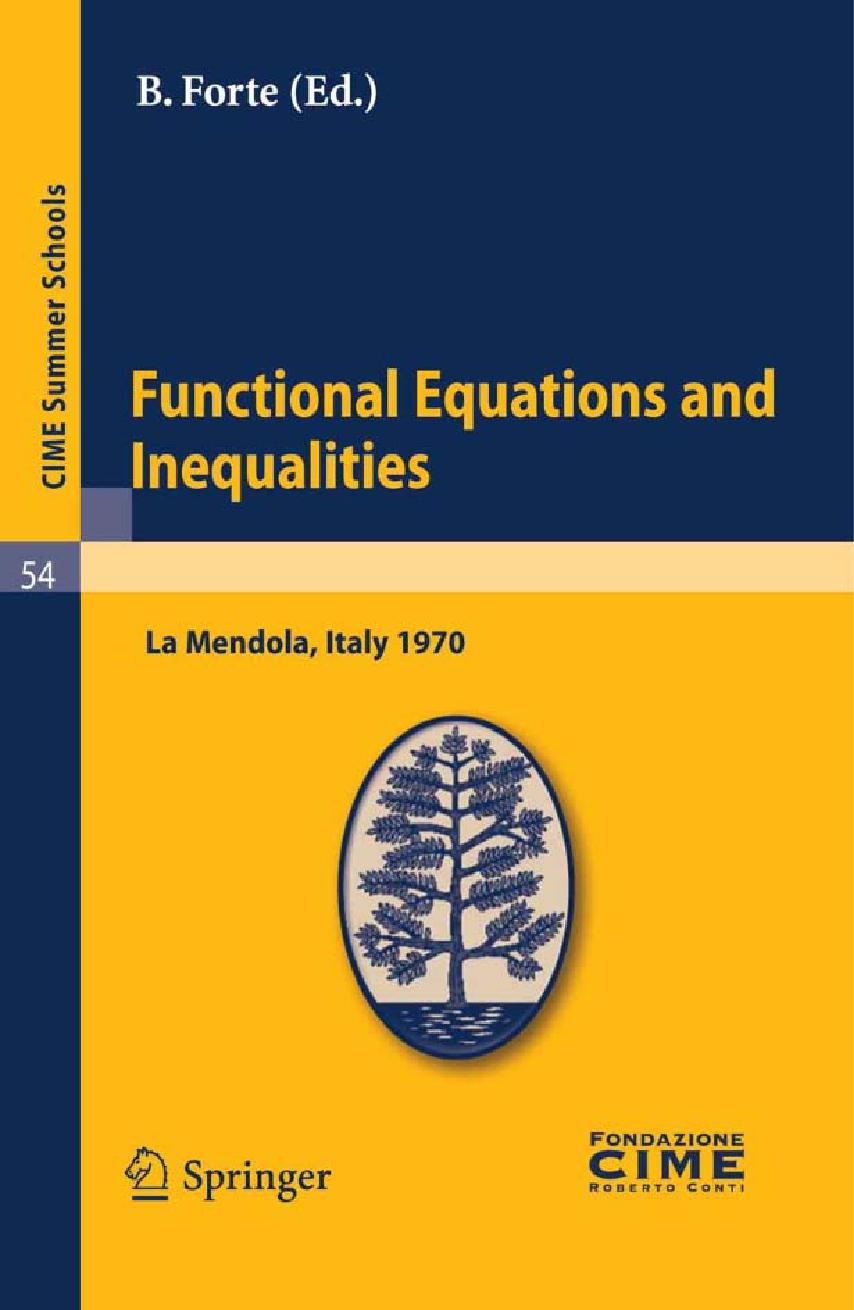 Functional Equations and Inequalities - Book Toankho