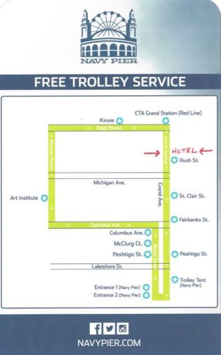 Free Trolley Route in Downtown Chicago