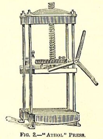 large standing standing iron book press