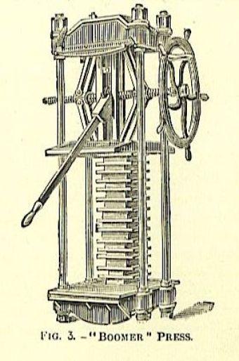 mechanical standing iron book press