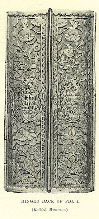 spine for gilt metal pierced and engraved