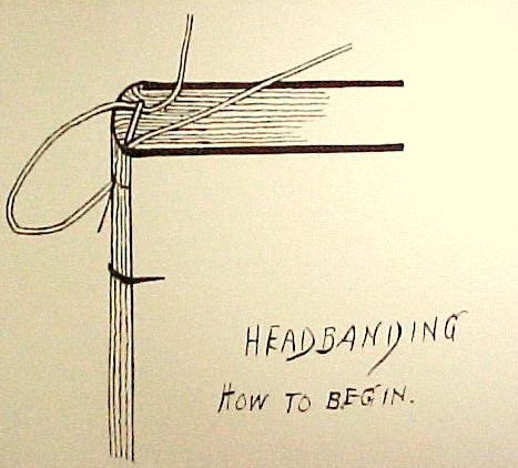 bookbinding starting sewing simple headband