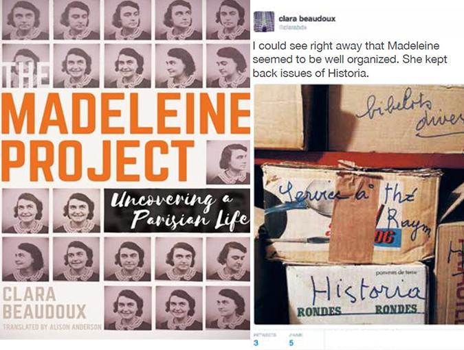 Review | The Madeleine Project: Uncovering a Parisian Life, Clara Beaudoux | Book of the Week
