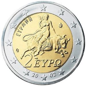 two euro coin