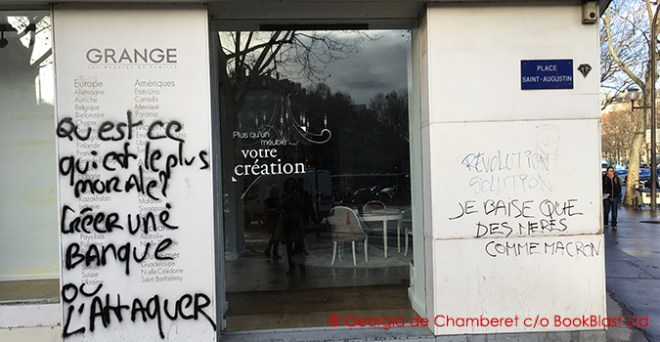 paris riots graffittie grange pl st augustin 9_12_18