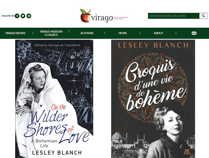 Lesley Blanch One of a Kind virago.co.uk