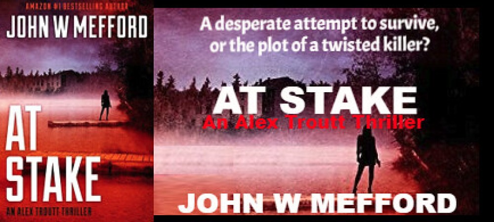 REVIEW TOUR: AT STAKE by JOHN W. MEFFORD @JWMefford @beckvalleybooks   #Thriller #Mystery