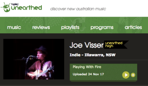 Joe Visser Triple J Unearthed