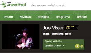 Joe Visser Triple J Unearthed