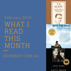 What I read February 2019 | bookboy.com.au