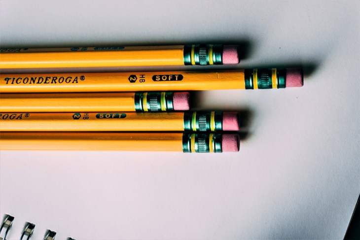 Pencils ready to practise the effect of alliteration