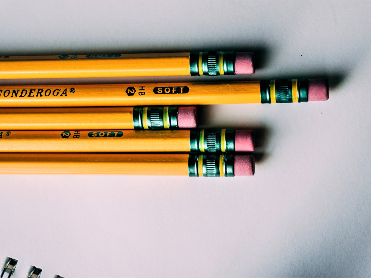 Pencils ready for the effect of alliteration